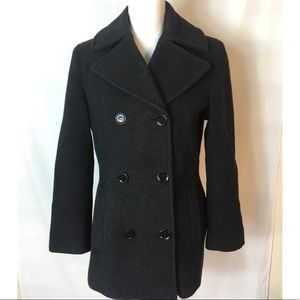 NWOT Calvin Klein Peacoat  Wool Jacket Sz 6
